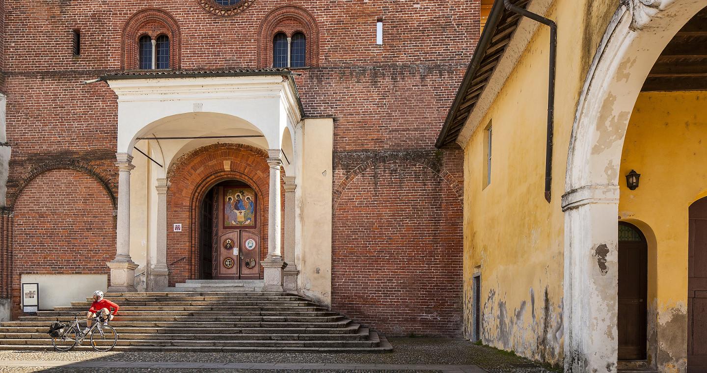 The Facade of the Abbey of Morimondo