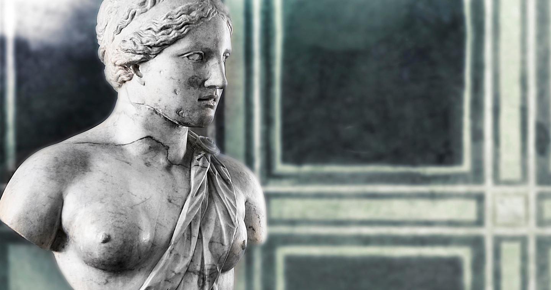 Statua conservata al Castello Visconteo, Pavia.