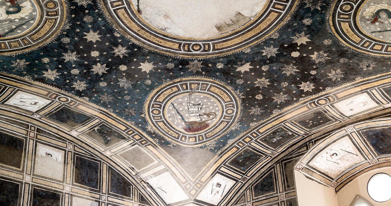 Soffitto di una sala del Castello Visconteo, Pavia.