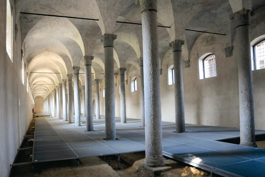 Le scuderie ducali del castello di Vigevano